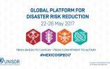 پنجمین نشست جهانی کاهش خطر سوانح (GPDRR) برگزار شد
