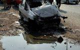 فوت راننده پراید در حادثه تصادف جاده ورامین