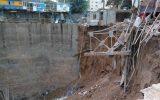 مدفون شدن ۴نفر زیر ساختمان