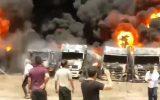 انفجار مخزن سوخت در شهرک صنعتی دولت آباد