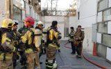 دو مصدوم در حادثه آتش سوزی در خیابان گاندی
