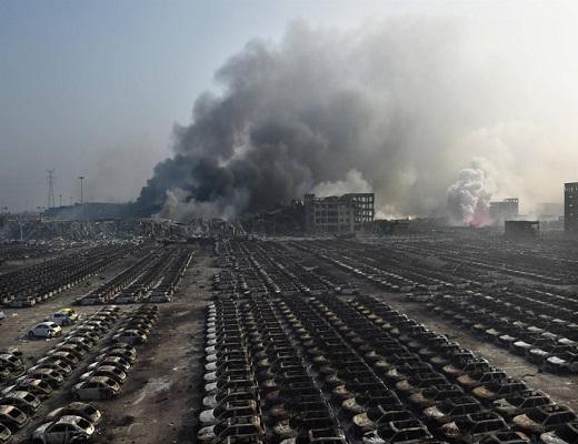 انفجار و آتش سوزی بزرگ در چین