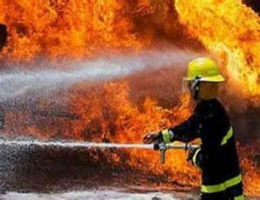 آتش سوزی انبار کالا در تهران