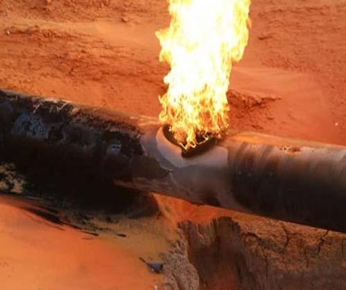آتش خط لوله ۴۲ اینچ گاز گناوه خاموش شد