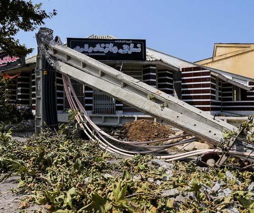 ۱۳۰۰ خانوار مازندرانی بر اثر طوفان خسارت دیدند