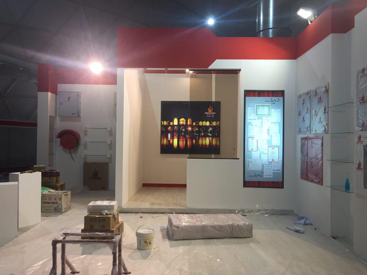 مراحل آماده سازی غرفه های ششمین نمایشگاه حفاظتی و ایمنی اصفهان
